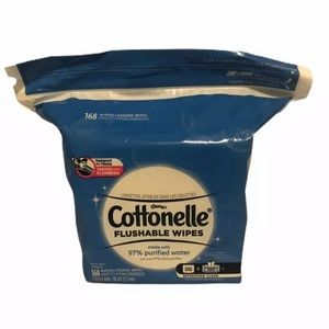 1 pack of Cottonelle Flushable Wipes (168 count)